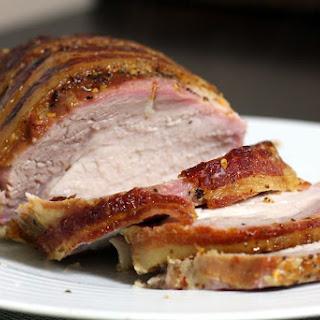 Honey-Bourbon Glazed Pork Loin with Bacon Recipe