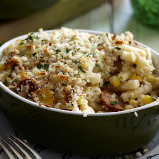 Macaroni Bake with Sausage and Corn