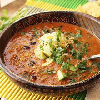 Easy Creamy Chicken Enchilada Soup.