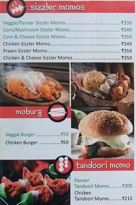 Wow! Momo menu 3