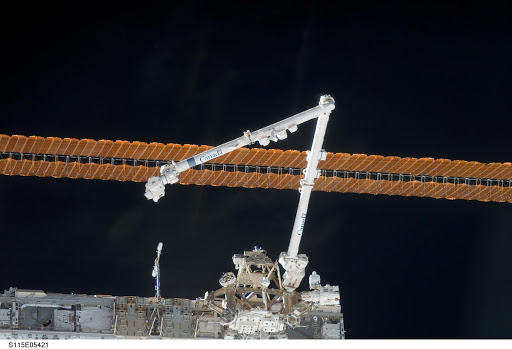 ISS during approach of the STS-115 Space Shuttle Atlantis