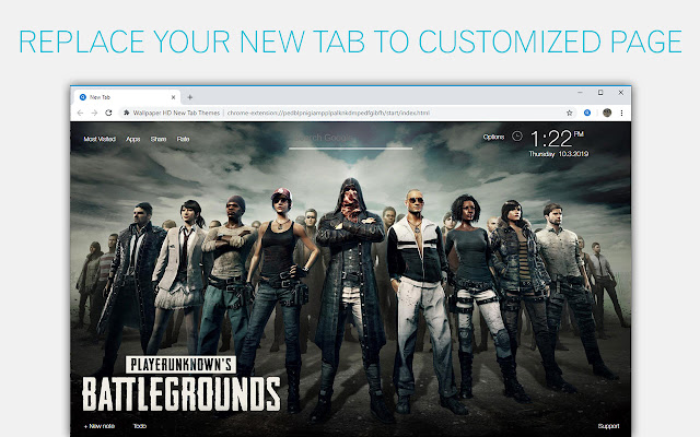 PUBG - PlayerUnknown's Battlegrounds New Tab