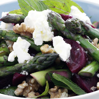 Beet, Asparagus and Feta Salad.