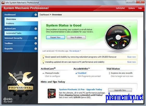 System Mechanic Pro Free Download