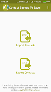 Backup Contact To Excel (Import & Export To XLSX) - náhled