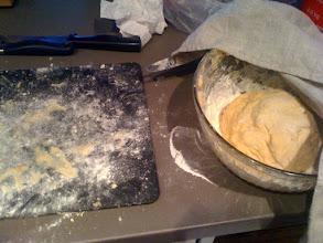 Photo: Proto-noodles! I made a mess.