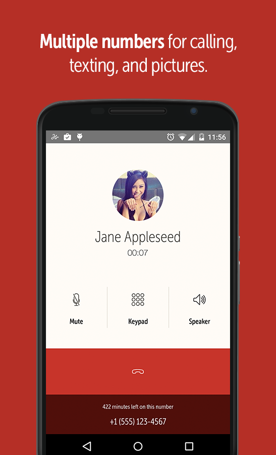 Hushed – Number, Texting, Pics- screenshot