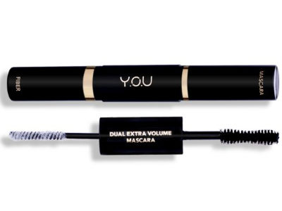 Dual Extra Volume Mascara fiber YOU maskara you waterproof tahan air tahan lama berkualitas nyaman