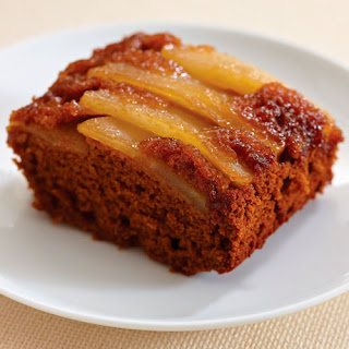 Pear Ginger Upside-Down Cake.