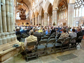 Photo: Packed Exeter Cathedral