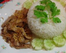Pad Katiem Over Rice