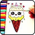 Drawing pictures for kids step by step icon