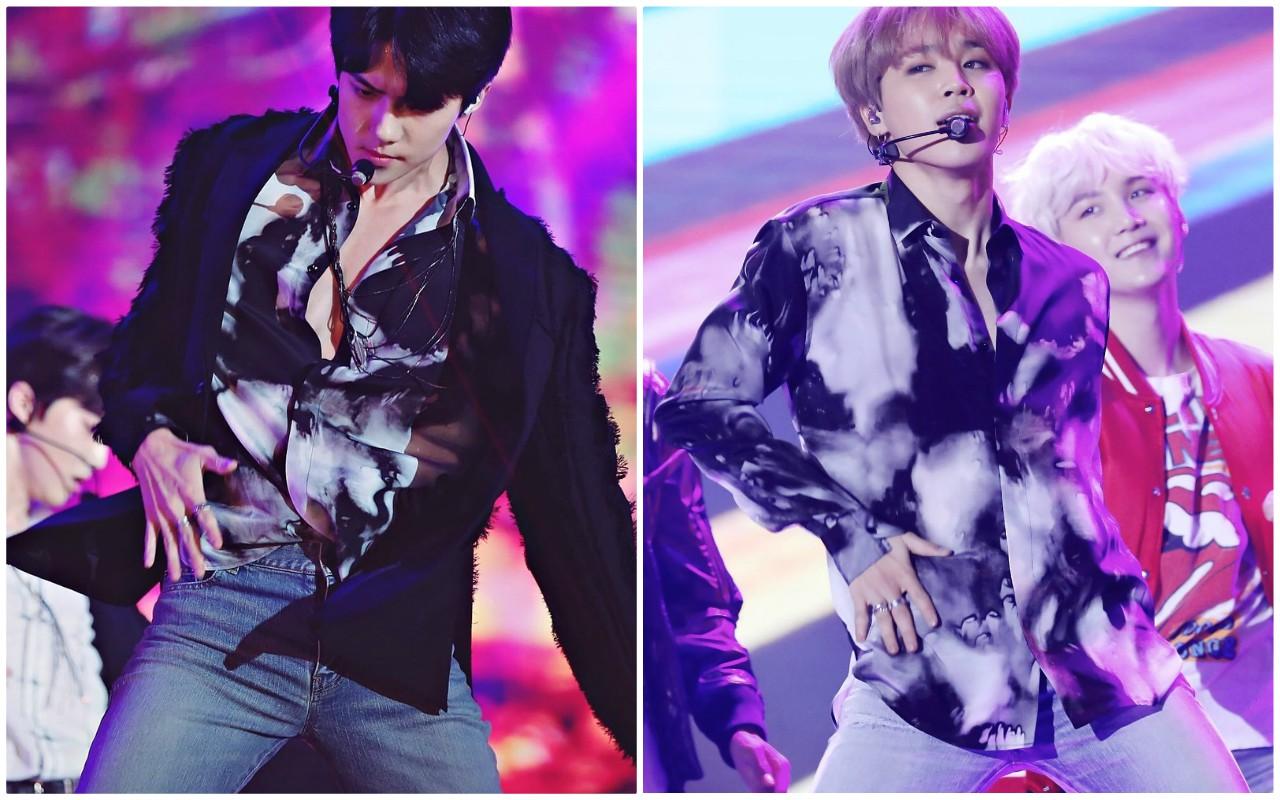 Sehun (EXO) și Jimin (BTS) poartă aceleași haine, dar fiecare ...
