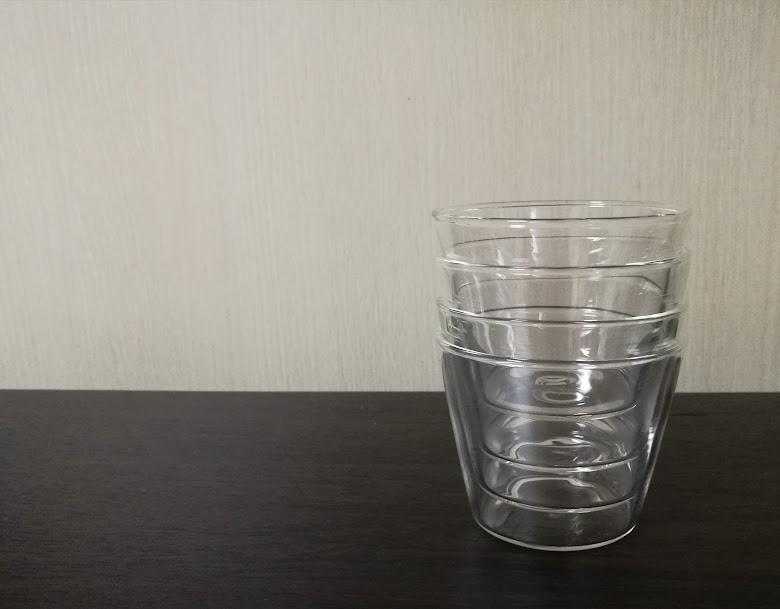 セリア耐熱ガラス製カップは収納しやすい