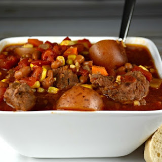 Grandma's Easy Slow Cooker Cowboy Beef Stew.