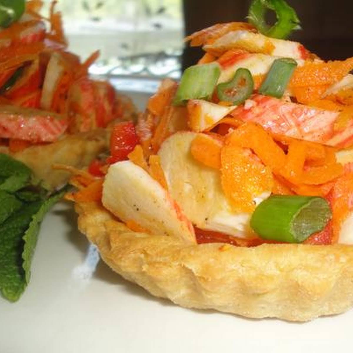 Tartlets With Crab Stick Salad