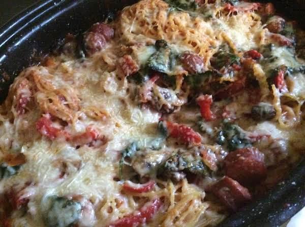 Kickin Spinach Pepper Spaghetti