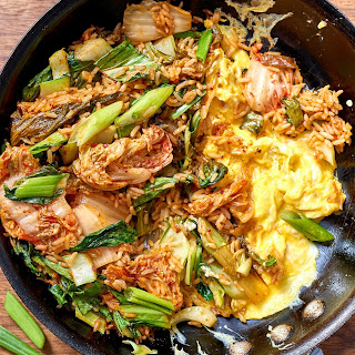 Kimchi Fried Rice with Extra Greens.