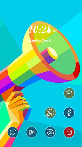 Colorful Speaker Theme