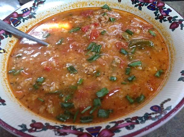 Recycled Stuffed Bell Pepper Soup