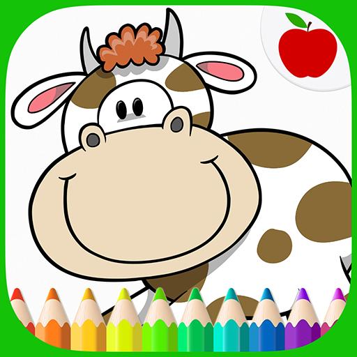 教育App|農場の動物は、本ぬりえ LOGO-3C達人阿輝的APP