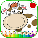 Farm Animals Coloring Book icon