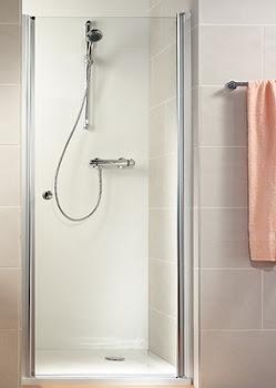 Porte de douche, jusqu'à 120 cm, pivotante pour une niche ou paroi latérale raccourcie