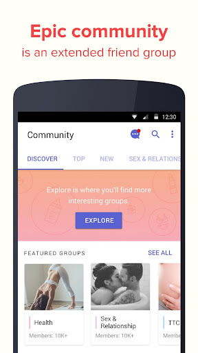 Eve Period Tracker - Love, Sex & Relationships App 3.8.2 Screenshots 6