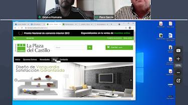 Captura de pantalla de una de las sesiones virtuales.