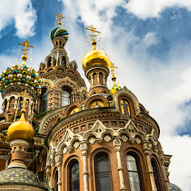 Savior on the Spilled Blood Church by D L - Buildings & Architecture Places of Worship ( may, europe, church, petersburg, street, travel, the, blood, spilled, spring, st., russia, jesus, indonesia, savior, on, trip )