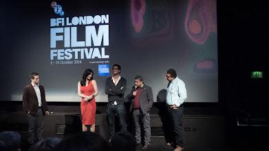 Photo: The opening night of Decor at London Film Festival BFI 2014. From Left Cretic Ali Jaafar, Horeya Farghaly, Khaled Abol Naga, Ahmad Abdalla, Magel El Kedwany.