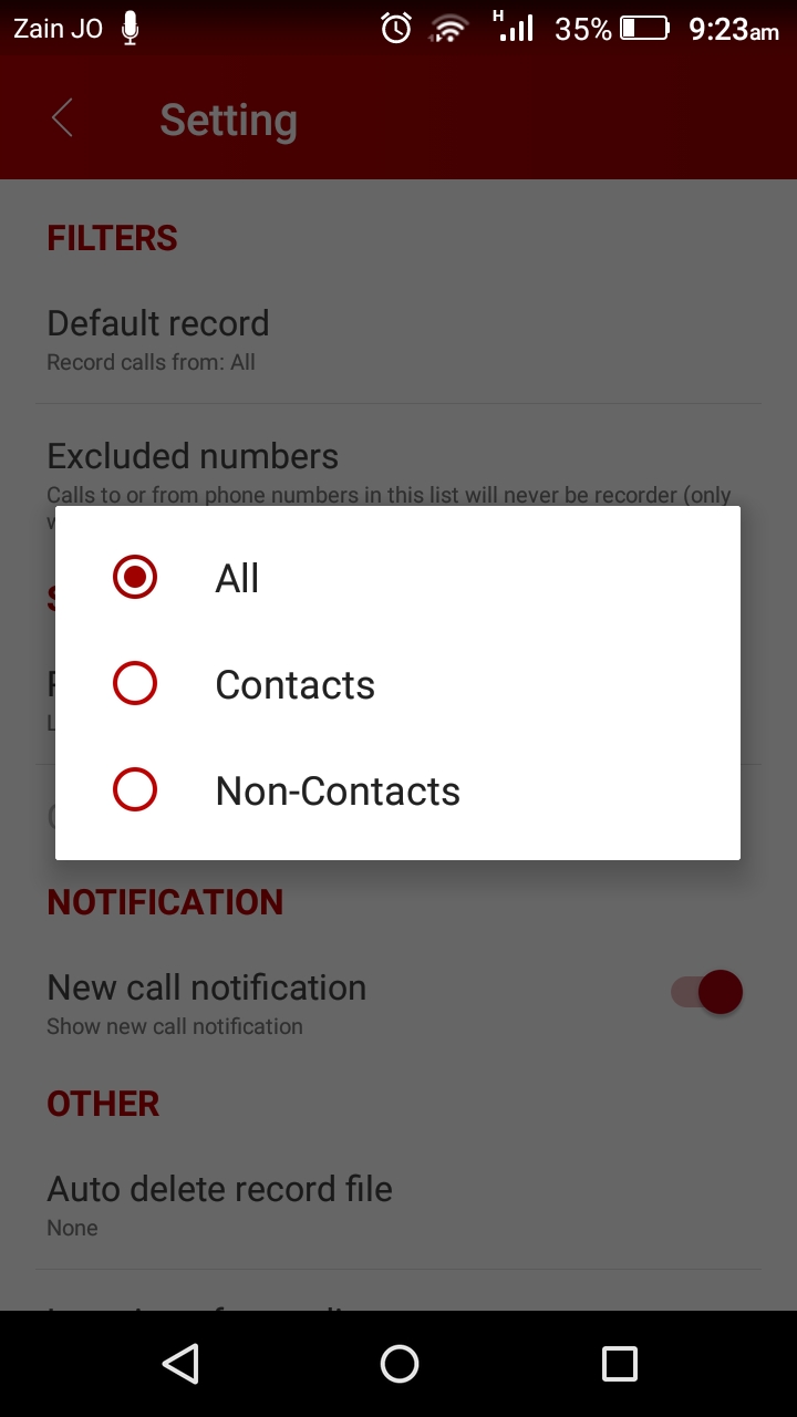 Automatic Call Recorder Pro 2019 - ACR Tool.(GOLD) Screenshot 7