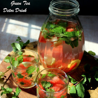 Watermelon Green Tea Detox Drink