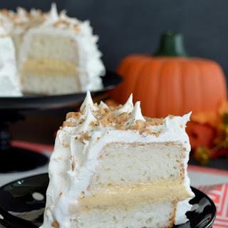 Pumpkin Toffee Angel Food Cake.