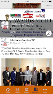 Interface Gambia TV - náhled