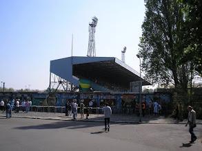Photo: De imposante Aad Mansveld-tribune van stadion Zuiderpark. Zo worden tribunes helaas niet meer gebouwd.