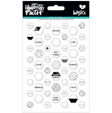 Bella Blvd Illustrated Faith Basics Mini Hexies Epoxy Stickers - Hey Sugar UTGÅ