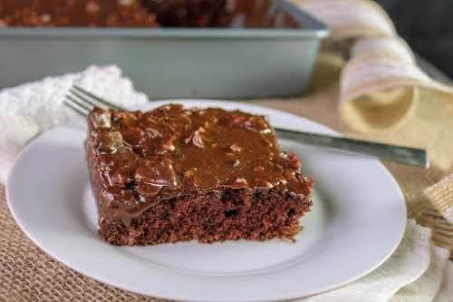 "Sheet Cake That Tastes Like Brownies ""This cake is aaaamazing! So chocolaty..."