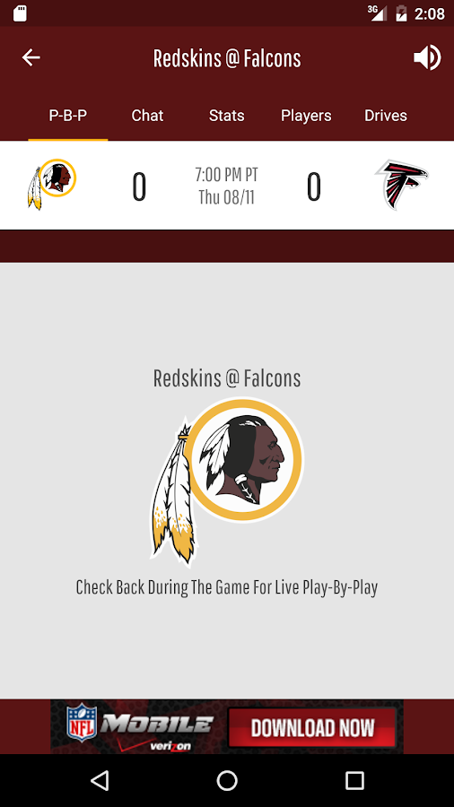 Official Redskins App- screenshot
