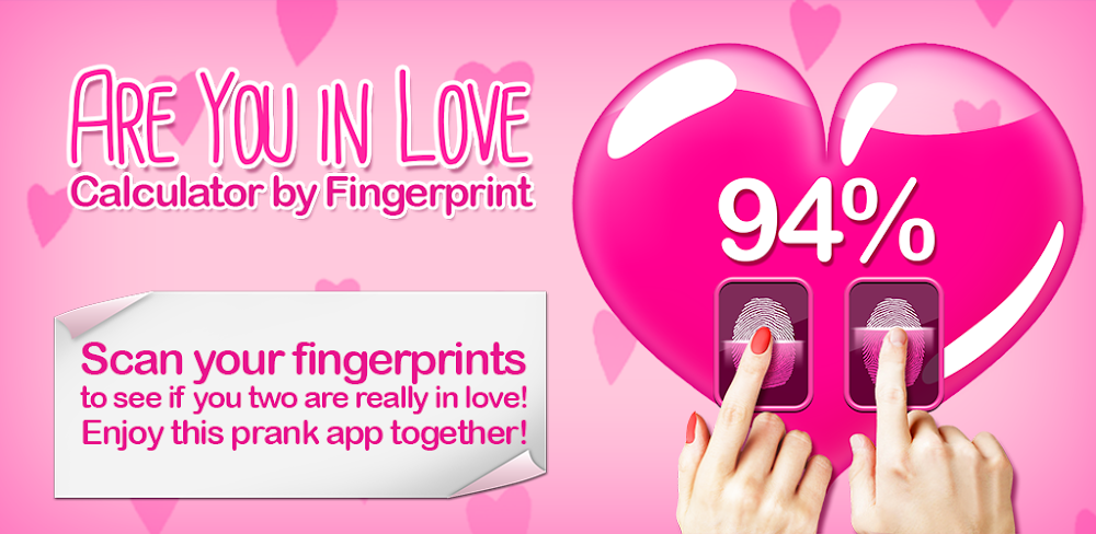 Are You in Love Calculator by Fingerprint