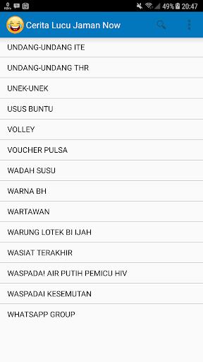 1000+ Cerita Lucu Jaman Now 3.3 screenshots 6