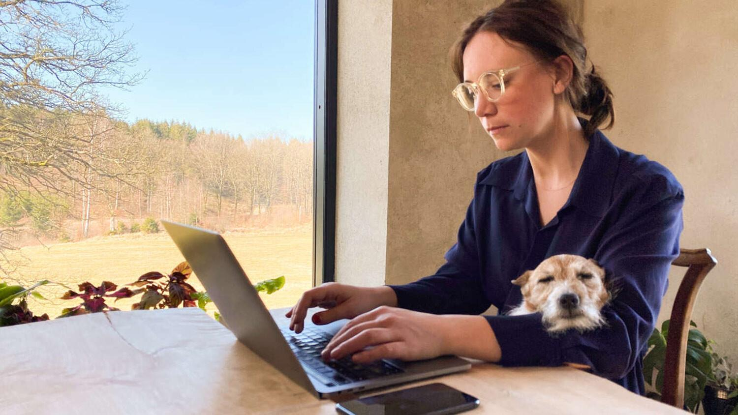 Working remotely home office