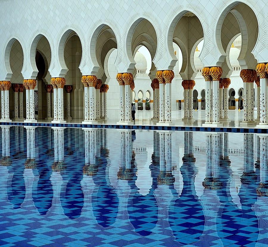 Sheikh Zayed Grand Mosque by Tomasz Budziak - Buildings & Architecture Architectural Detail ( mosque, buildings, architecture,  )