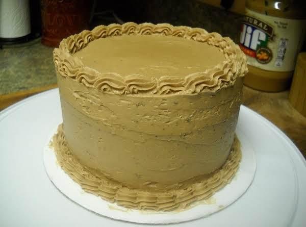 Deep Chocolate Cake With Peanut Butter-cream