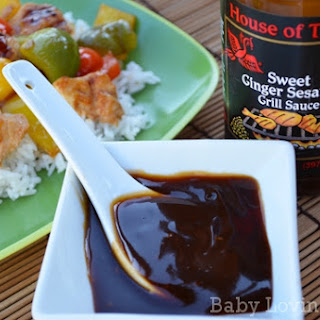 Sweet Sesame Ginger Grilled Chicken with Peppers