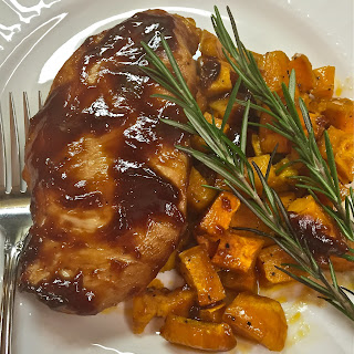 Barbecue Chicken and Roasted Sweet Potatoes