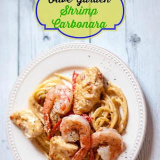 Olive Garden Chicken and Shrimp Carbonara.