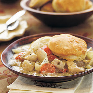 Chicken Stew with Biscuits.