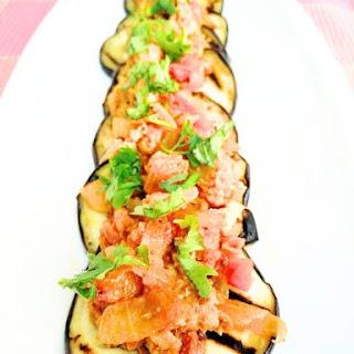 Chicken Kheema with Grilled Aubergine Parathas