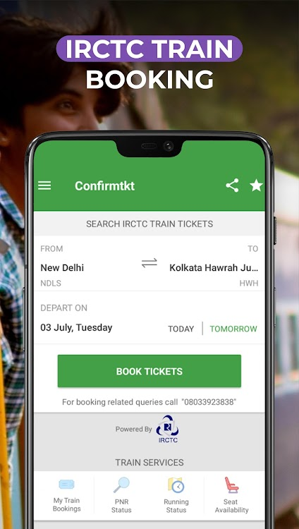 IRCTC train Booking, Indian Rail Train PNR Status – (Android Apps